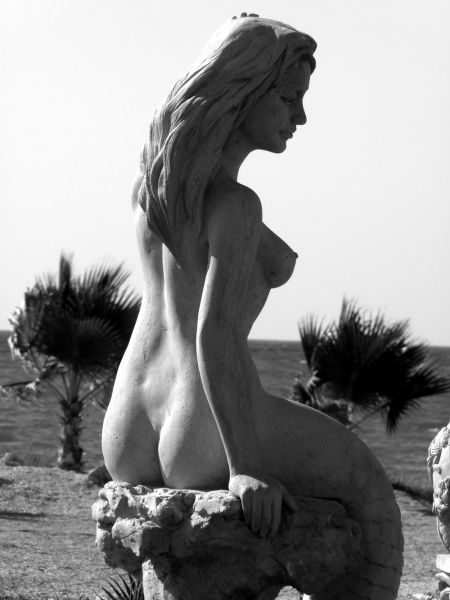 Cyprus Mermaid Fountain.  Photo by Catherine Champernau.  All Rights Reserved.