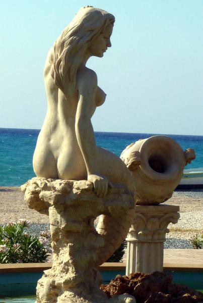 Cyprus Mermaid near Agia Marina Chrysochous.  Photo by Catherine Champernau.  All Rights Reserved.