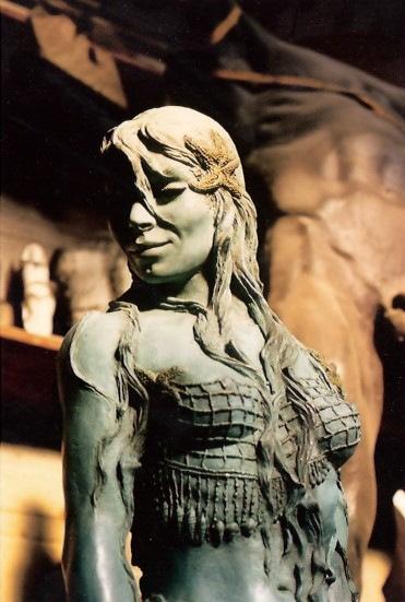 'Atlante' Mermaid Sculpture clay original.  Photo © by Amaryllis.