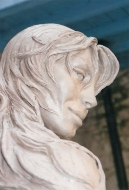 Face of 'Atlante' Mermaid Statue in Cannes.  Photo © by Amaryllis.