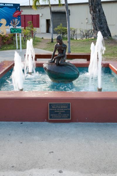 The Little Mermaid Statue on St. Thomas