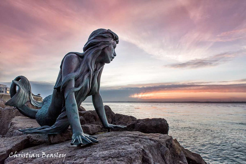 The Cowes Mermaid on the Isle of Wight.   Photo © by Christian Beasley.
