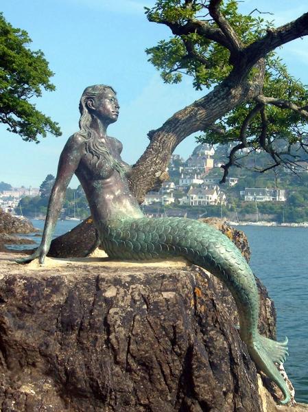 Miranda, Mermaid of Dartmouth.   Photo by sculptor Elisabeth Hadley.