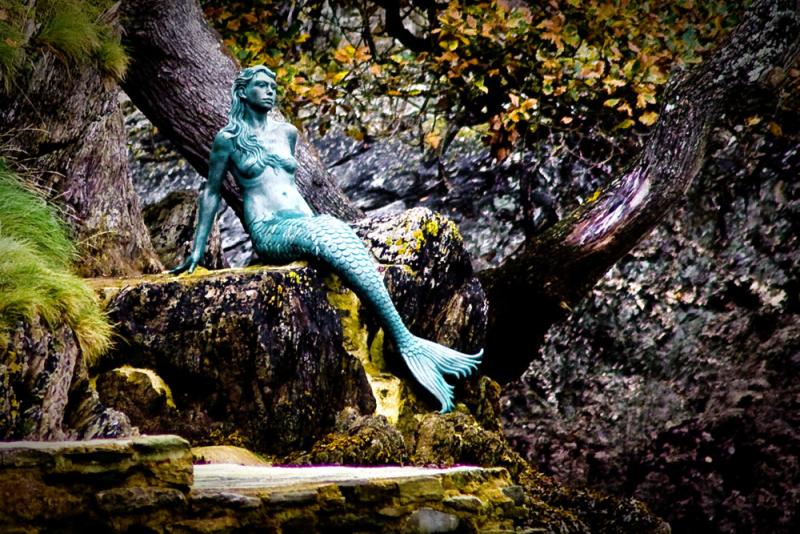 Dartmouth mermaid near Dartmouth Castle.  Photo by Mark Robinson.