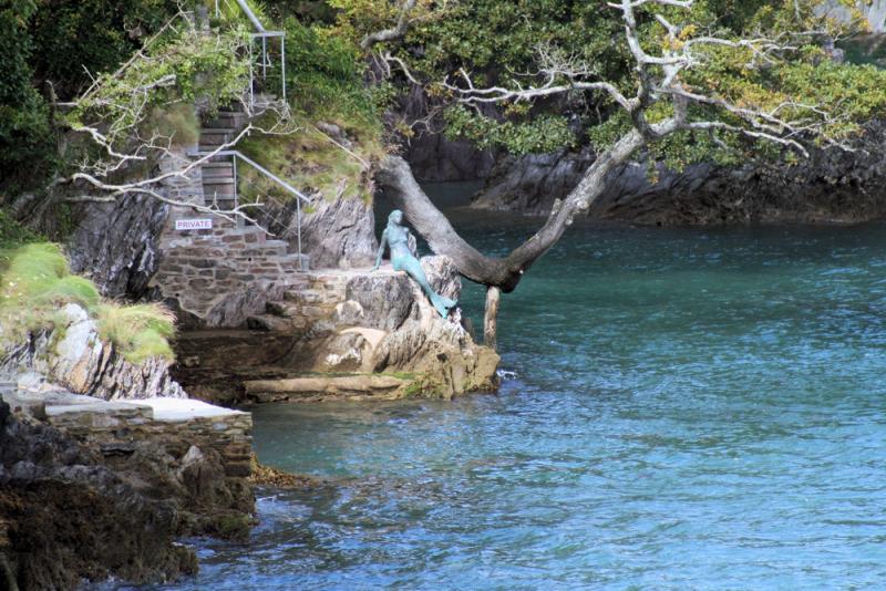 Mermaid statue - Miranda, Mermaid of Dartmouth.  Photo and copyright by Martin Brewster.