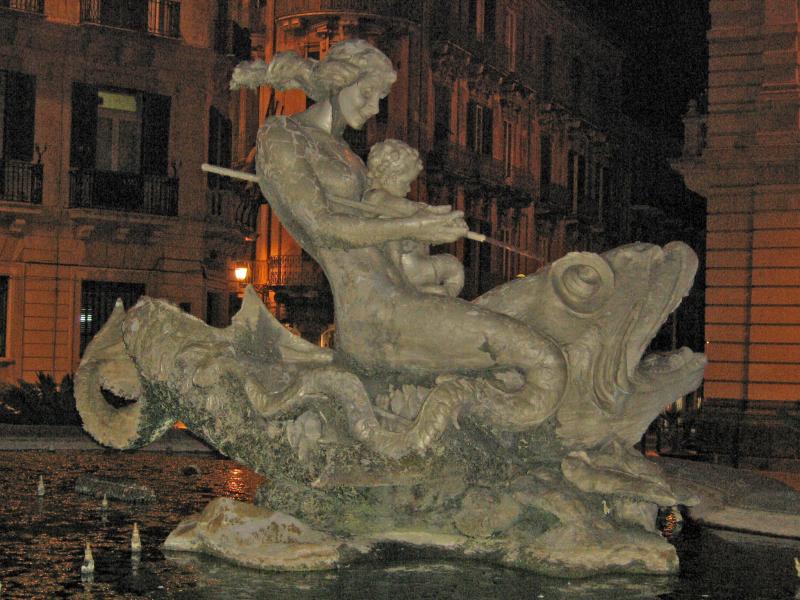Fontana di Diana in Syracuse, Italy.  Photo © by Mauro Felix.