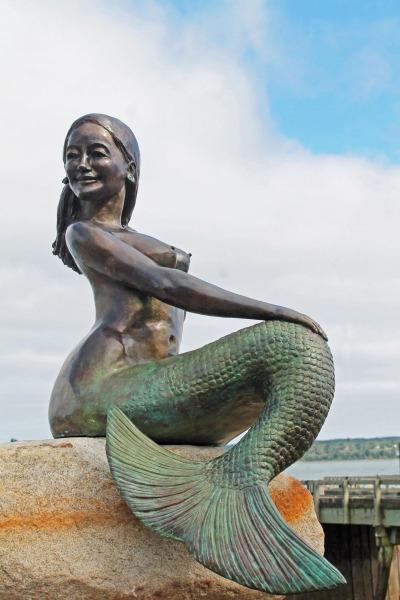 Nirena, Mermaid of Eastport.  Photo © by Brianna Wing.