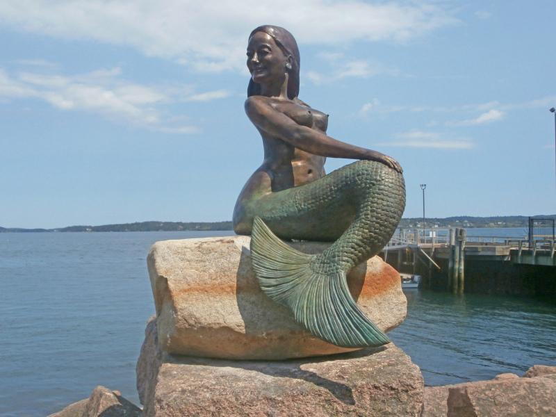 Nirena, Mermaid of Eastport.  Photo © by Meg Keay.