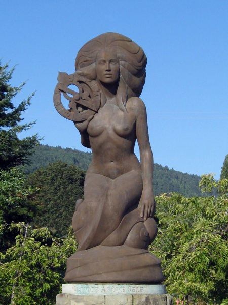 Nerissa, Mermaid of Ganges.  Photo © by Ruth Hartnup.