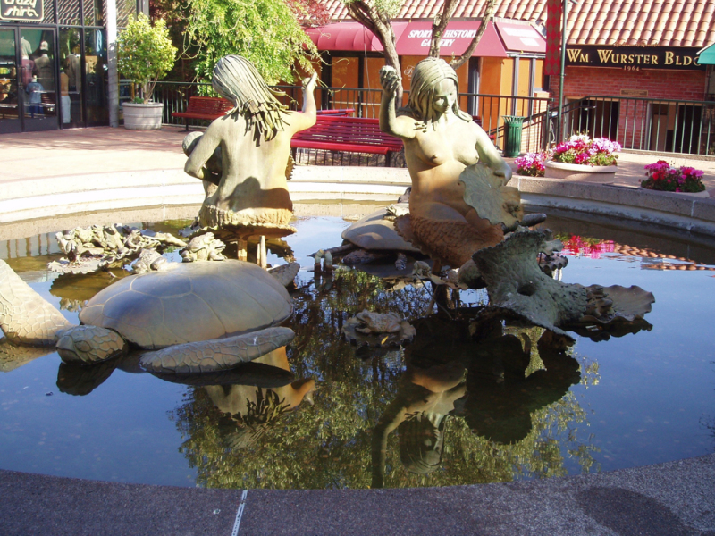 Mermaid Statues in Ghirardelli Square.  Photo © by Timothy Carroll.