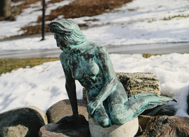 Greenville's Flat River Mermaid.  Photo © Griffith Photography.