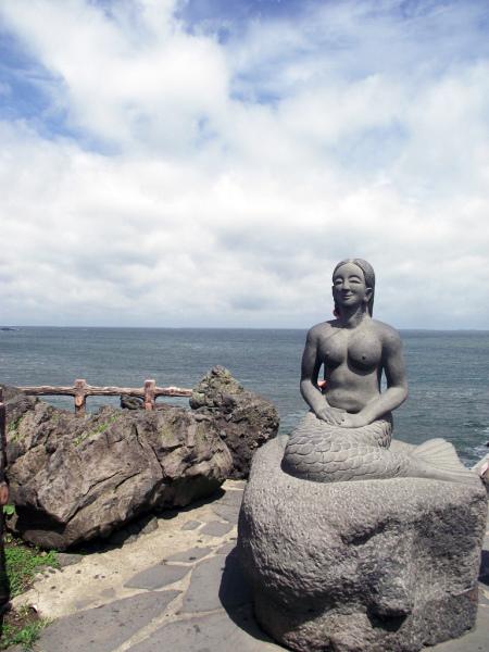 Jeju Mermaid by Dragon's Head Rock.  Photo byJean-Elise