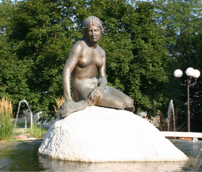 The Little Mermaid statue in Kimballton.  Photo by K Nelson.