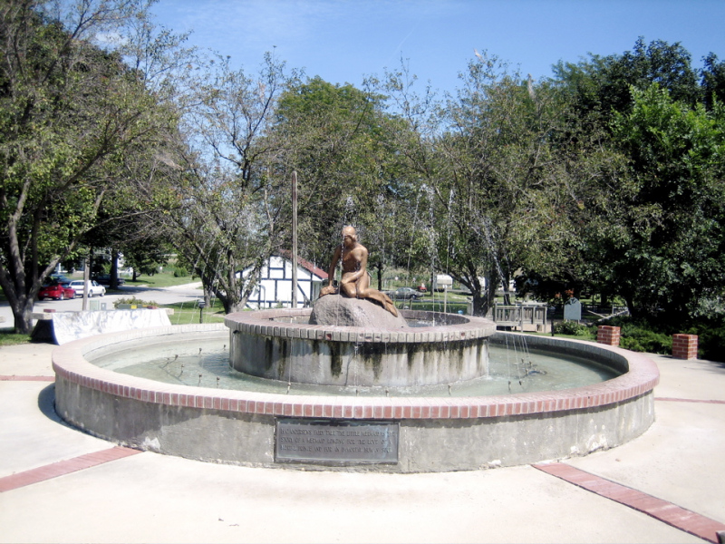 Mermaid fountain in Kimballton, Iowa