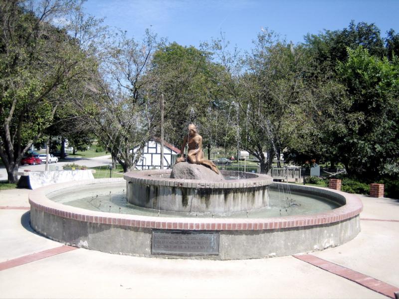 Kimballton Mermaid  statue and Fountain