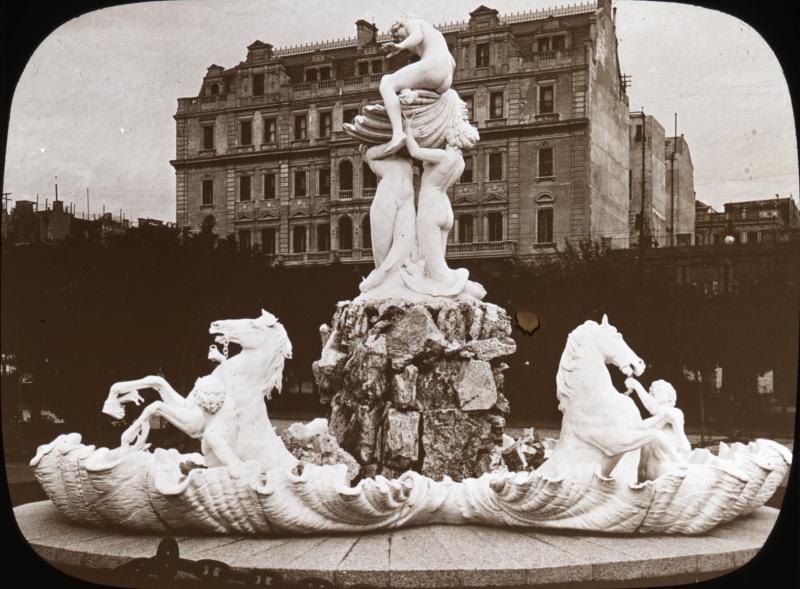 Fuente las Nereides as it was in 1915.
