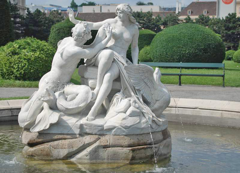 Mermaid and Triton in Maria Theresa Square. Photo by GuentherZ.