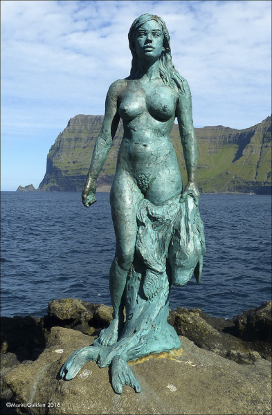Kopakonan (The Seal Wife) in Mikladalur on Kalsoy, Faroe Islands.  Photo © Marita Gulklett.