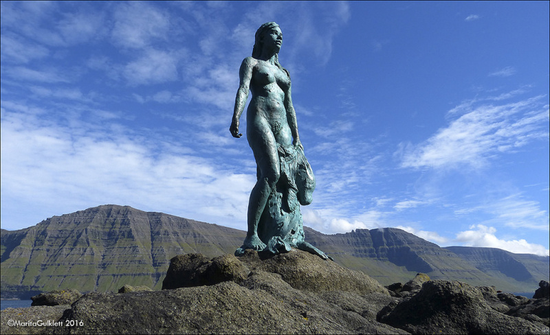 Kopakonan (The Seal Wife) in Mikladalur on Kalsoy, Faroe Islands.  Photo ©  Marita Gulklett