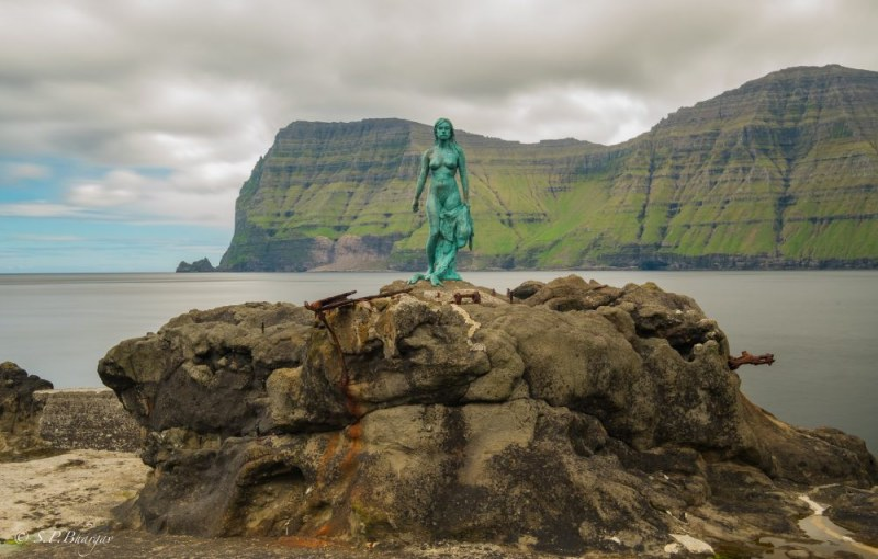 Kopakonan (The Seal Wife) in Mikladalur on Kalsoy, Faroe Islands.  Photo ©  SPBhargav