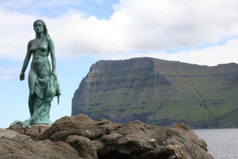 Kopakonan (The Seal Wife) in Mikladalur on Kalsoy, Faroe Islands.  Photo ©  Thomas Juul Andersen