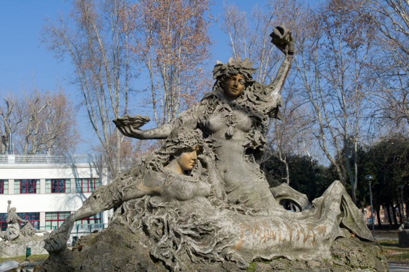 Mermaids in Montagnola Park, Bologna.  Photo by Alfred Hockenmaier.
