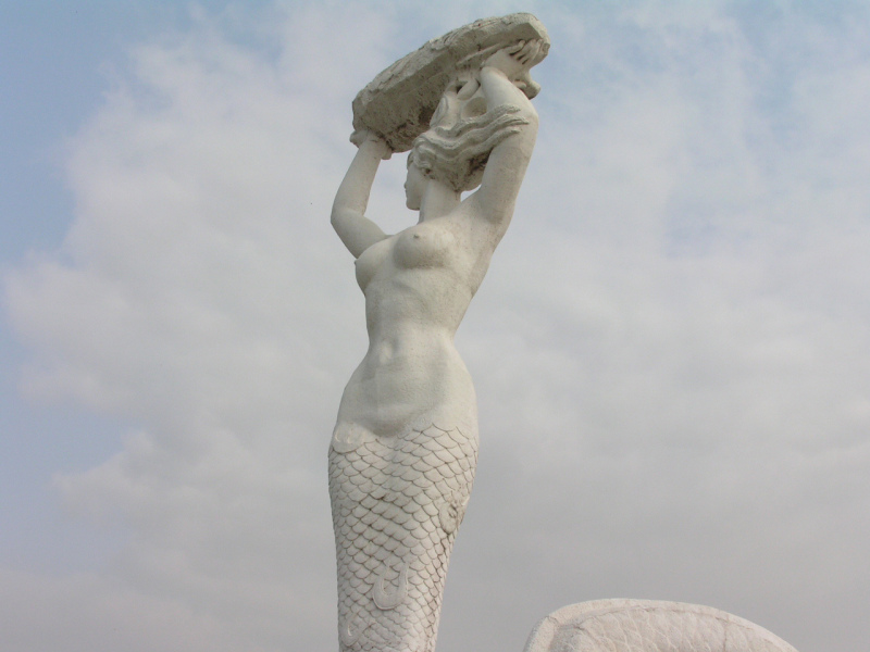 Nuwa Mermaid Goddess of Shenzhen.  Photo © by William Long.