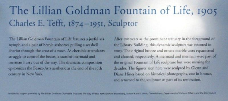 Fountain of Life at NY Botanical Gardens