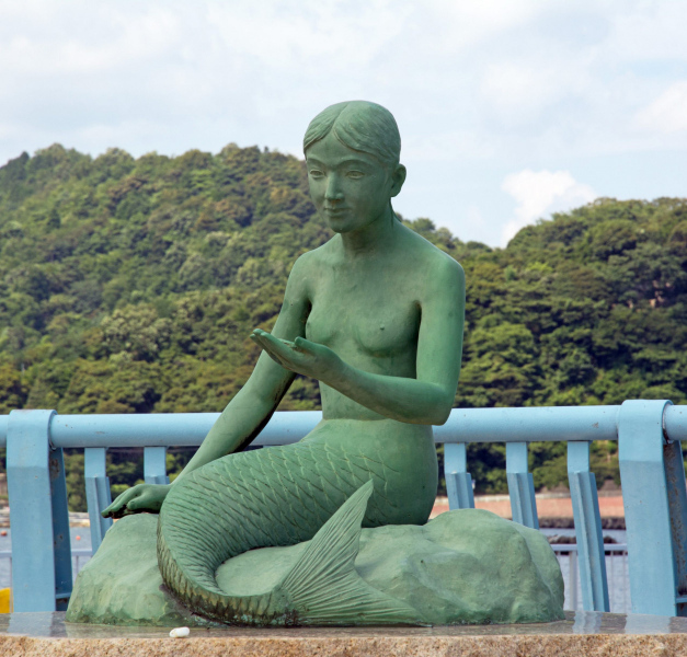 One of the mermaids at Obama Beach in Japan.  Photo © Emily Ann Mahon.