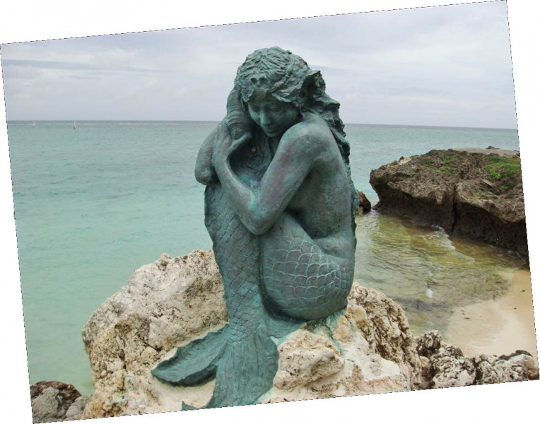 Okinawa Moon Beach Mermaid.  Photo © by Korrin Anderson.
