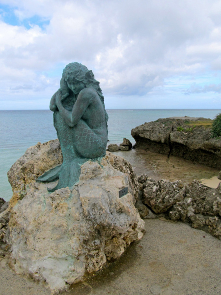Okinawa Moon Beach Mermaid.  Photo © by Mackenzie Bell.