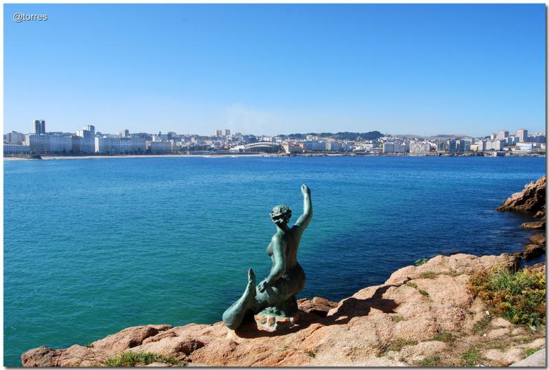 La Sirena del Orzán.  Photo by Antonio Torres Sánchez.