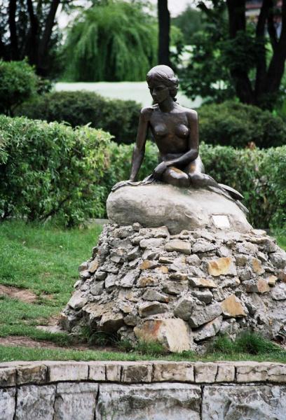 Mica Sirena mermaid statue in Pietra Neamt