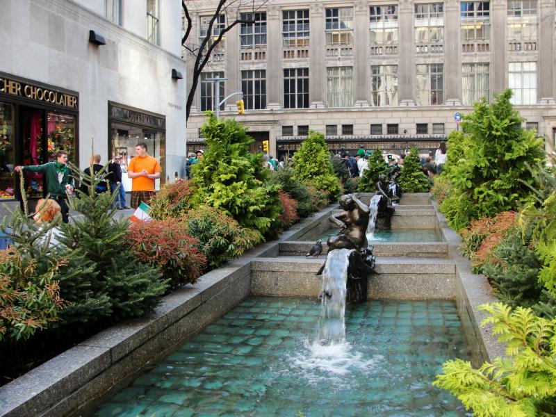 Rockefeller Plaza Gardens.  Photo © by Josef Pinlac.