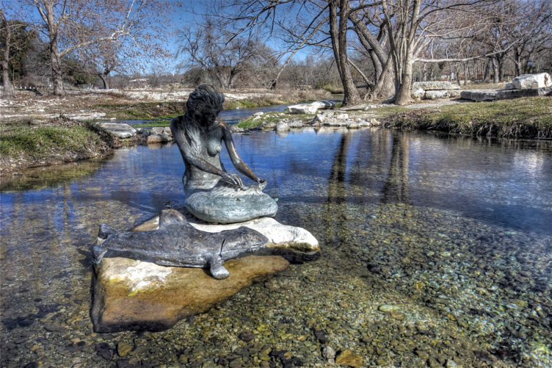 Indian Mermaid Sirena in Salado, Texas.   Photo by Angi English.