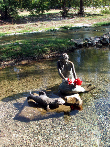Indian Mermaid Sirena in Salado, Texas.  Photo by Barb Jernigan.
