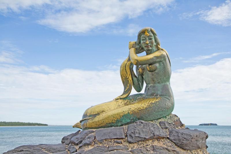 Songkhla Mermaid in Thailand.  Photo © by 123RF.