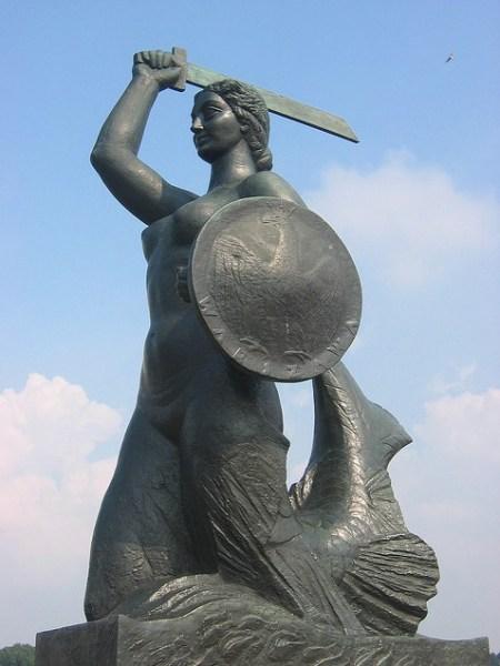 Syrenka of Warsaw - statue by the Vistula River
