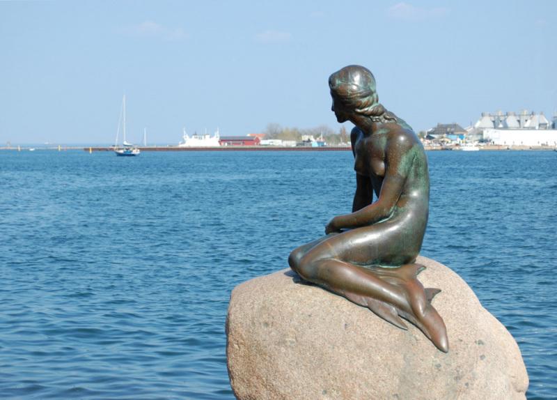 The Little Mermaid Statue in Copenhagen. Photo by James Bilbrey.