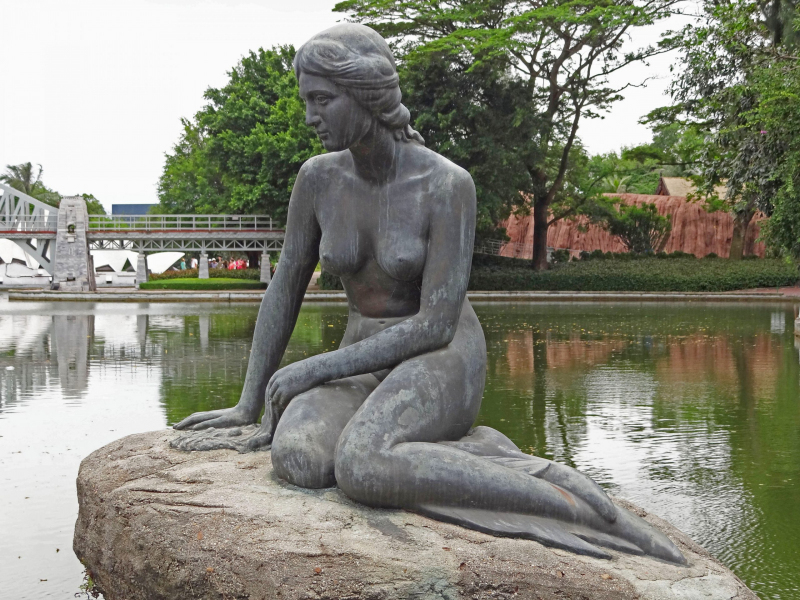The Little Mermaid in Shenzhen's Window of the World Park.  Photo © by Blair Yu.