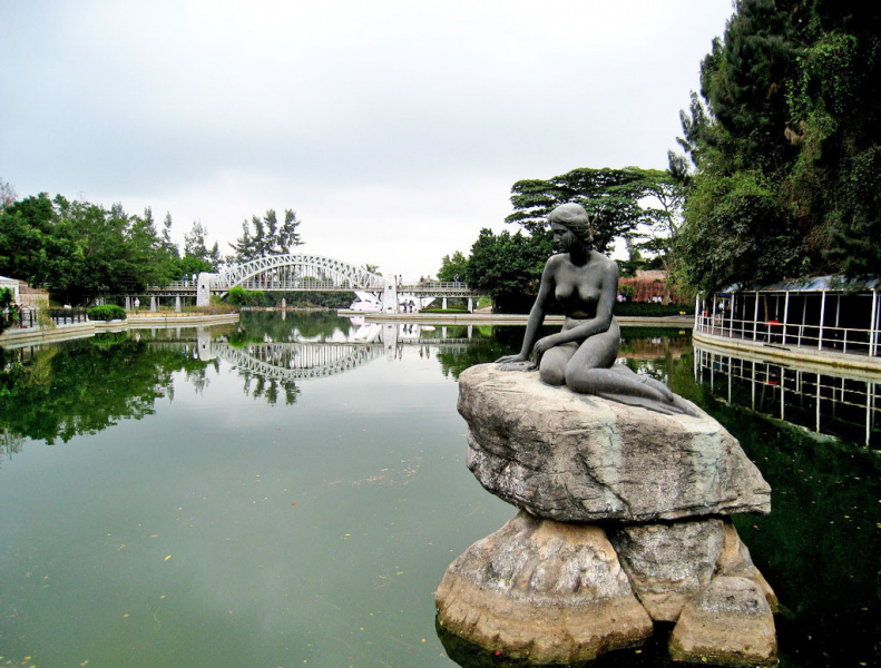 The Little Mermaid in Shenzhen's Window of the World Park.  Photo © by Marcus Nilsen.