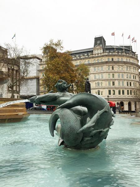 Trafalgar Square Mermaids.  Photo by Chris Davis