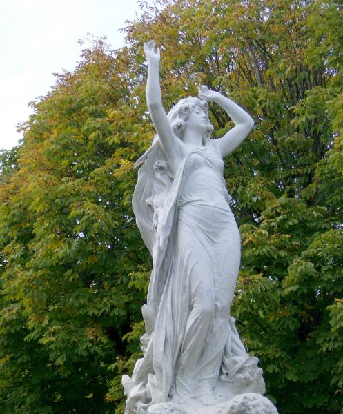 The Undine Mermaid Fountain in Baden, Austria.  Photo by Ernst Raser.