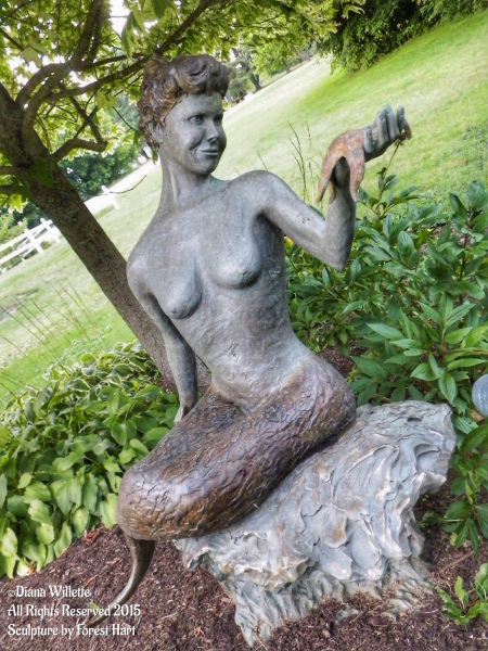 The Lorelie Mermaid in Unity, Maine.  Photo © by Diana Willette.