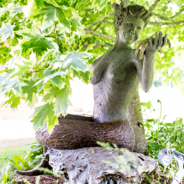 The Lorelie Mermaid in Unity, Maine.  Photo © by Micaela Bedell.