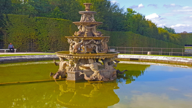 The Pyramid Fountain at Versailles.  Photo © by Philip Jepsen.