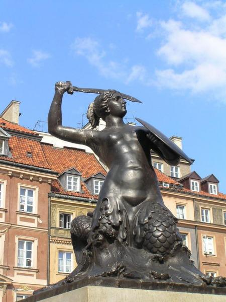 Warsaw Mermaid Statue.