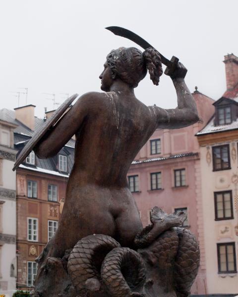 Warsaw Mermaid Statue.  Photo © by Alasdair Dougall.