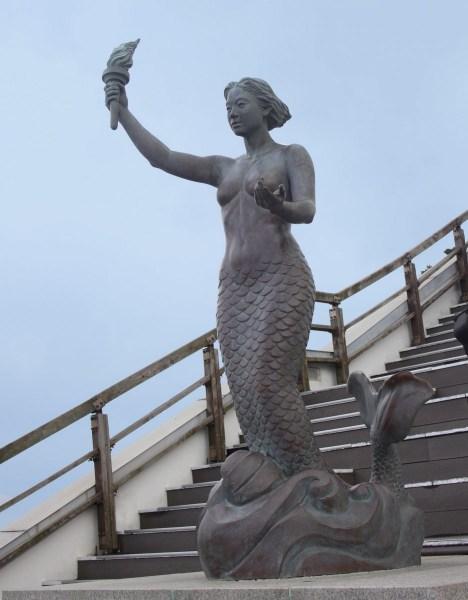 Yeongdo Lighthouse Mermaid.  Photo © by Flower La Warner.