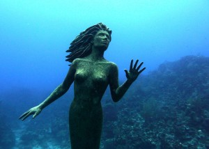 Amphitrite, mermaid sculpture under the sea